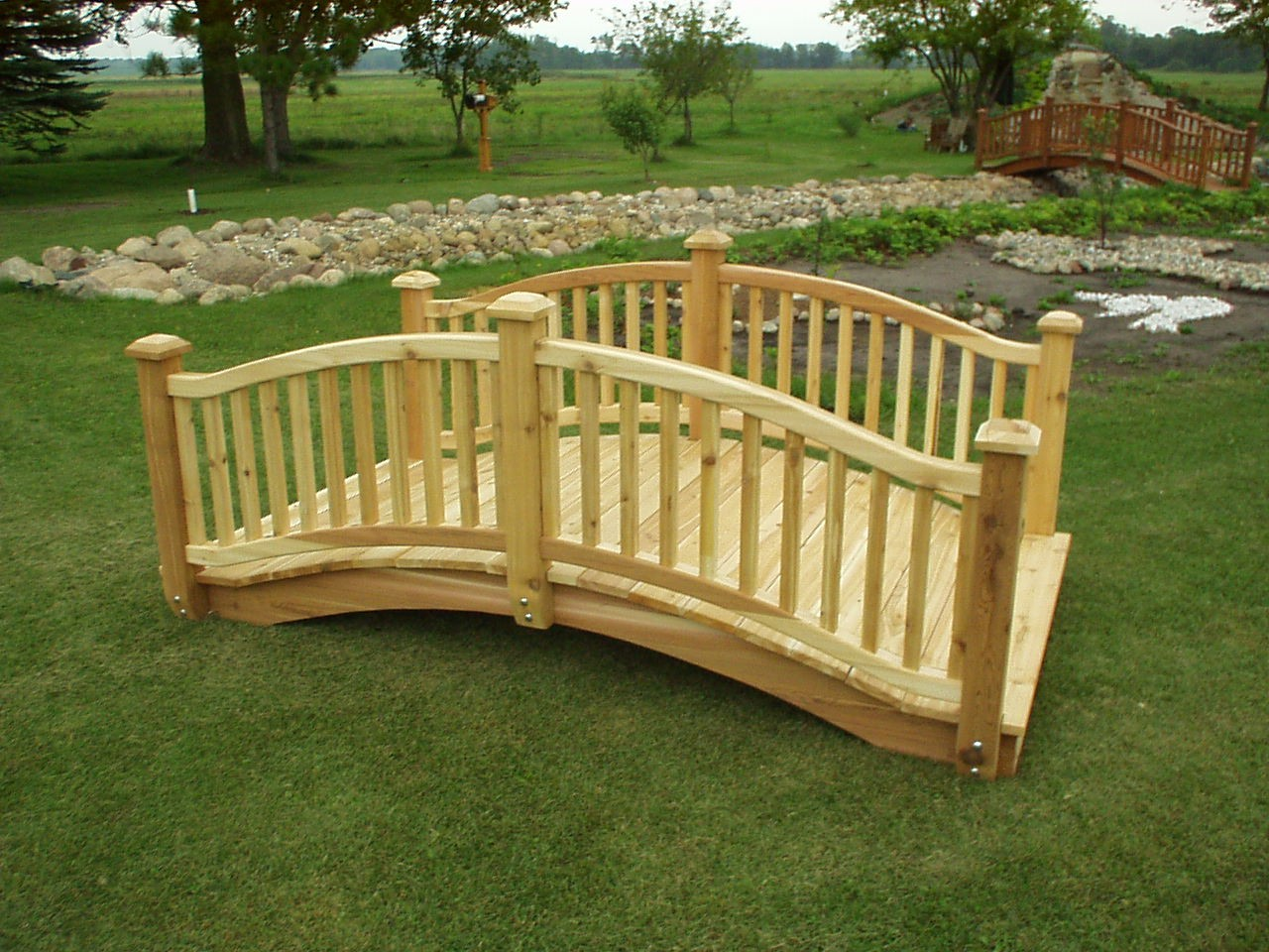 BJ 8 Wooden Garden Bridge