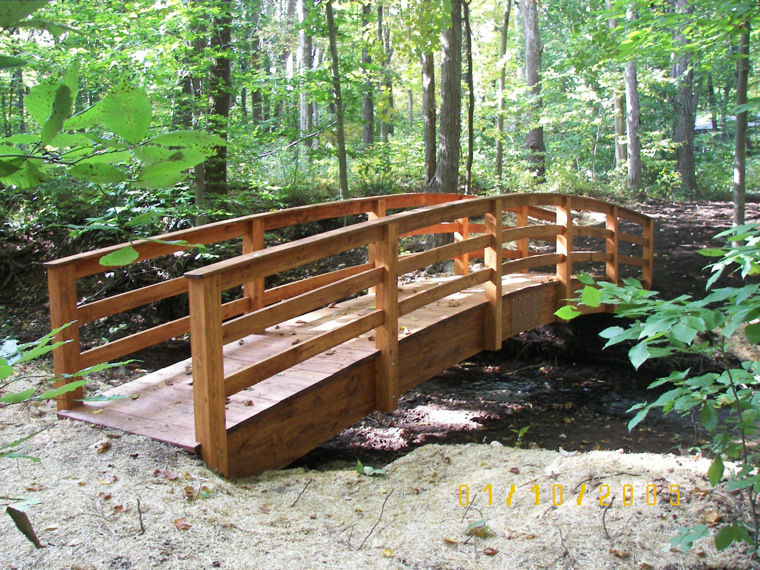 Wooden Garden and Pond bridges can be used as a trail bridges